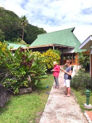 Wednesday Fiji. Sketching tropical flora