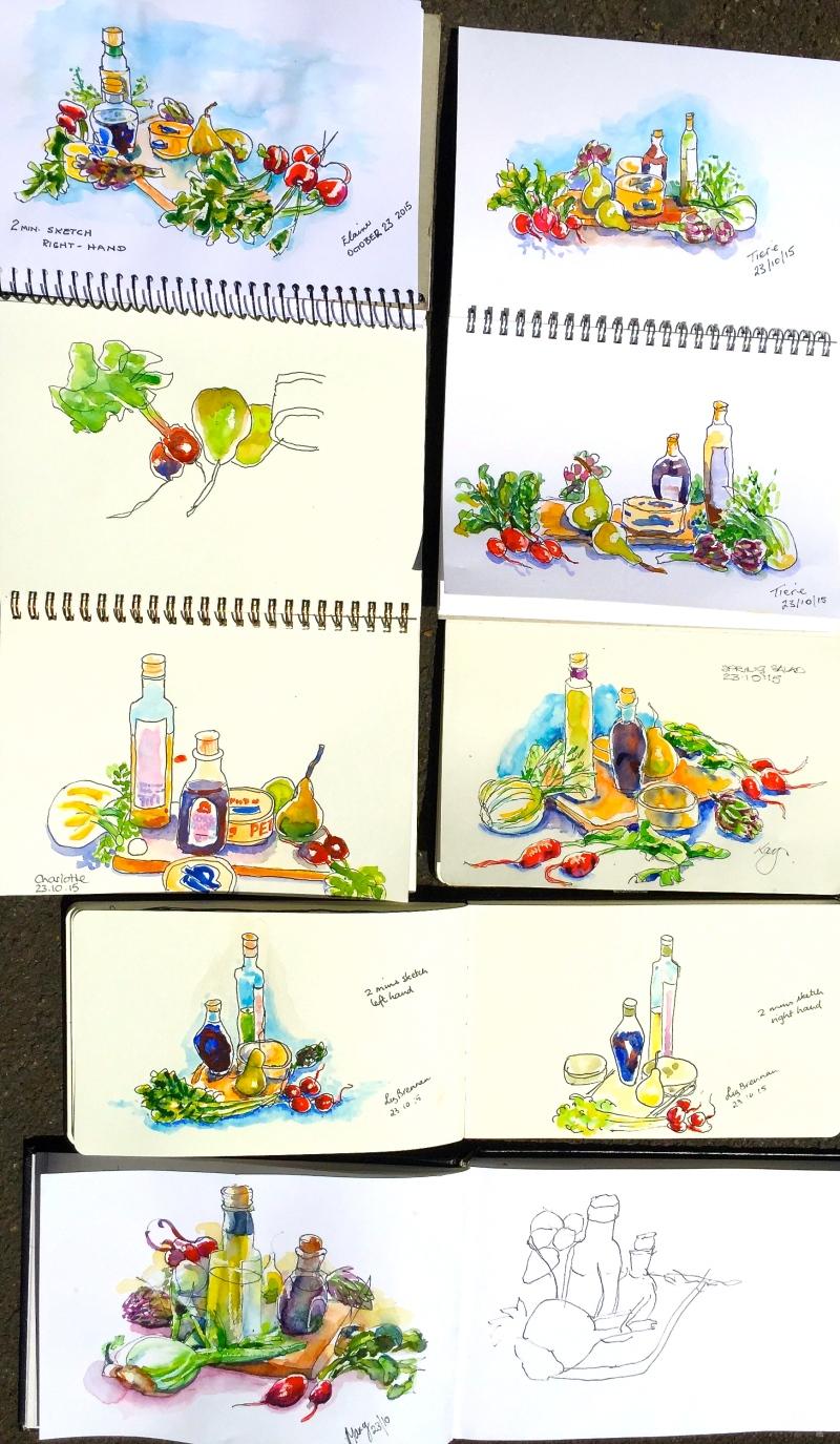 Fri Gen. Food sketches in the Studio