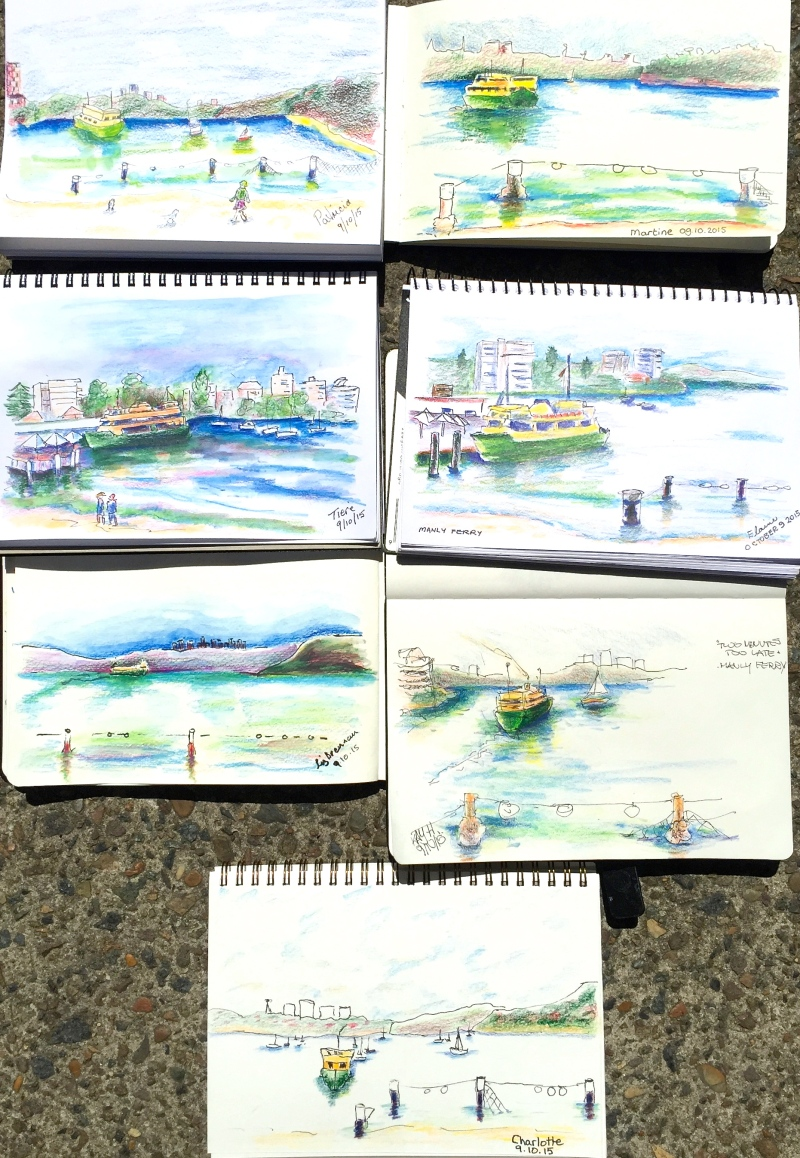 Fri Gen. Manly ferry sketches