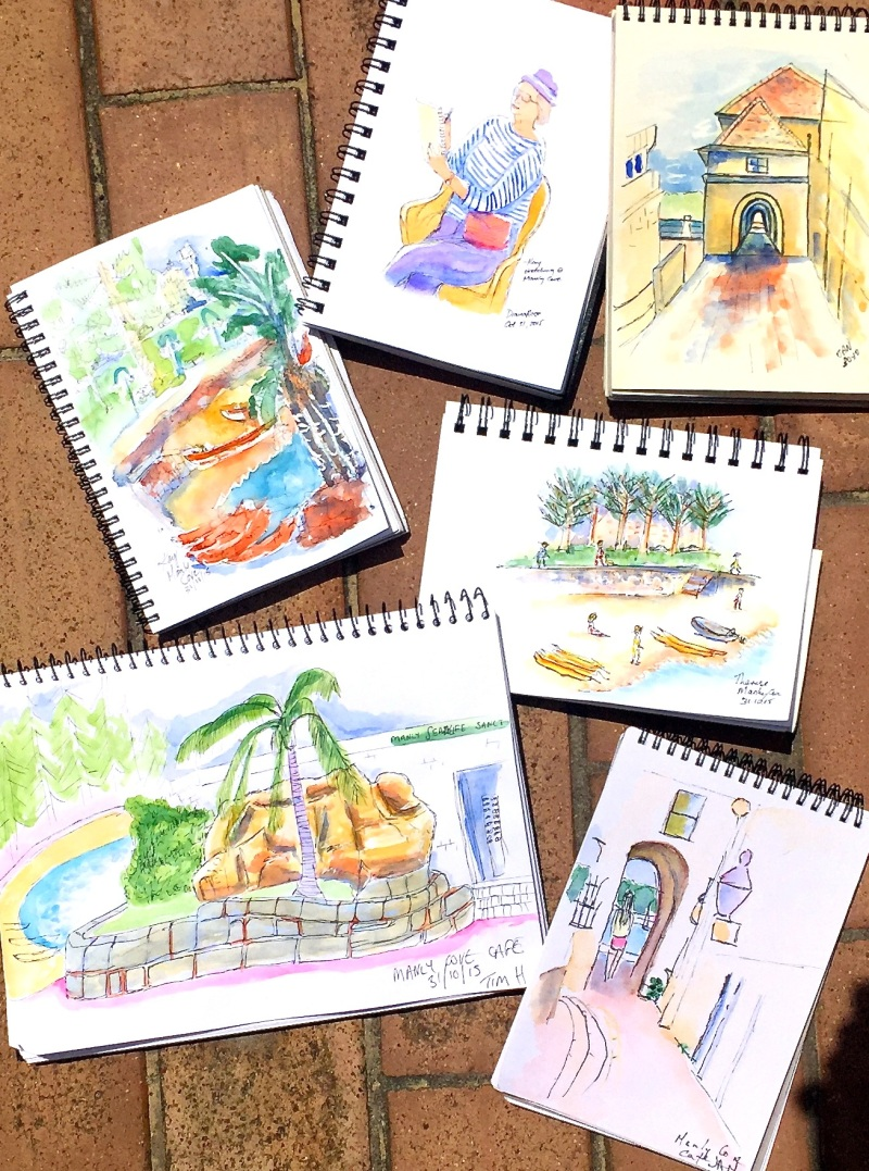 Sat Gen. Manly Cove cafe sketches