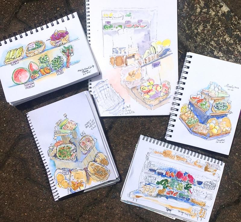 Sat Gen. Manly Food Co-op sketches