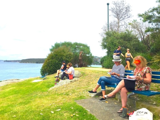 Sat Gen. Sketching at Federation Point