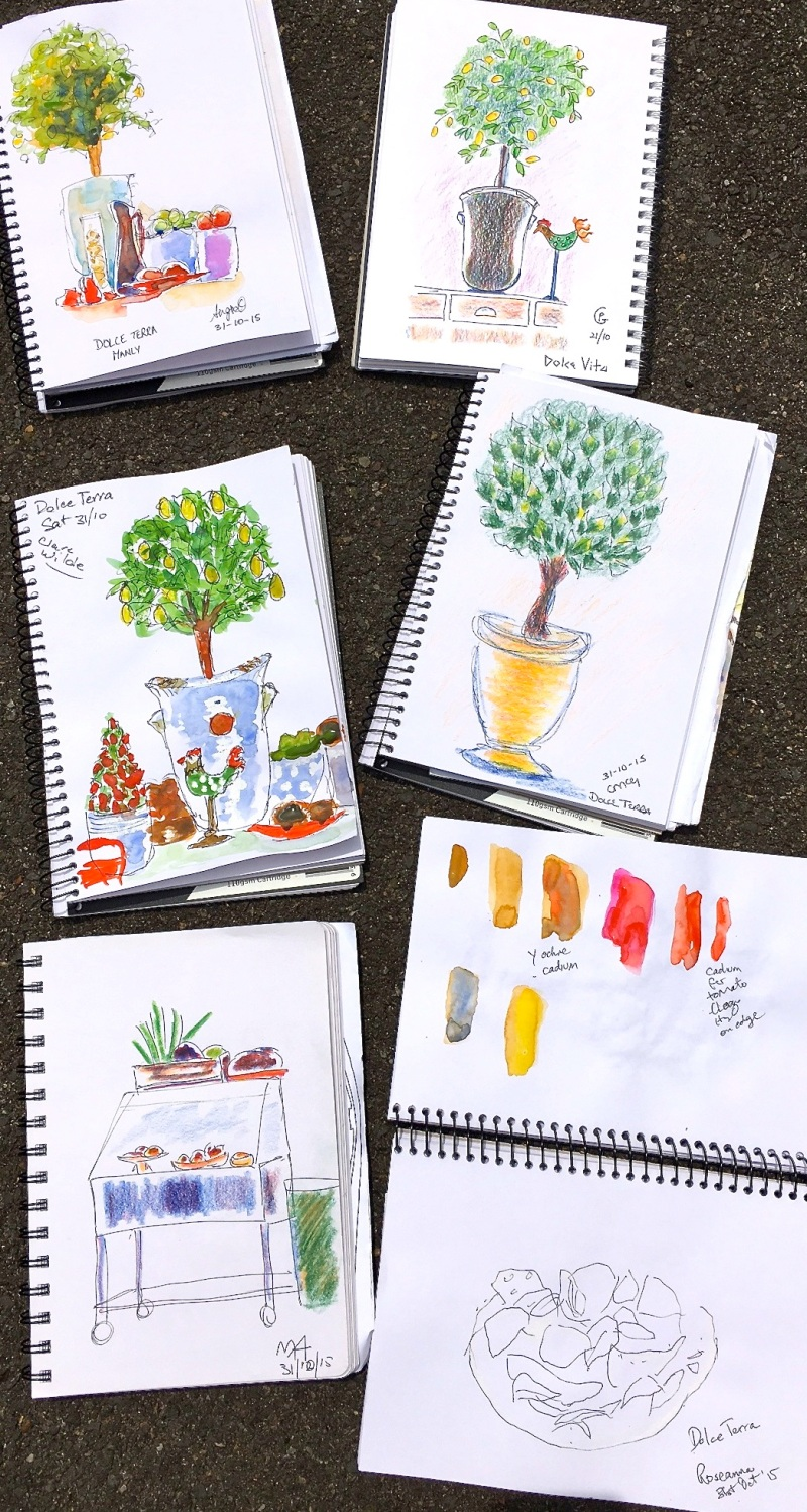 Sat New. Dolce Terre sketches