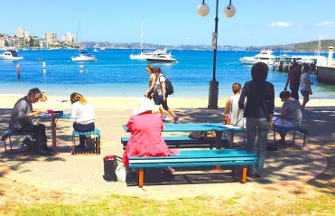 Sat New. Down at Manly Cove