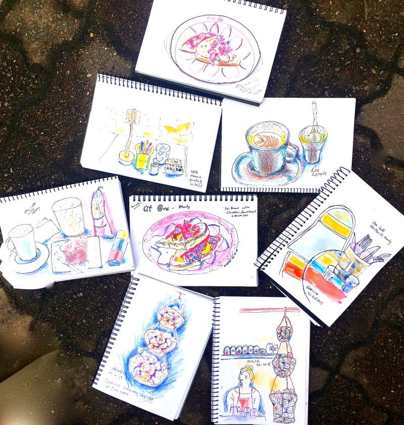 Thurs. Gen. Cafe Ora sketches