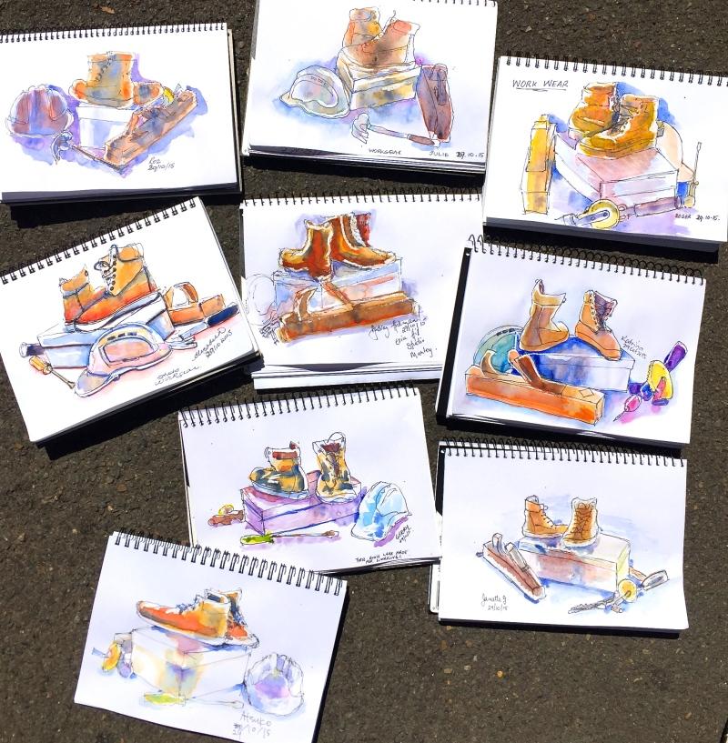 Thurs Gen. Workmans gear sketches