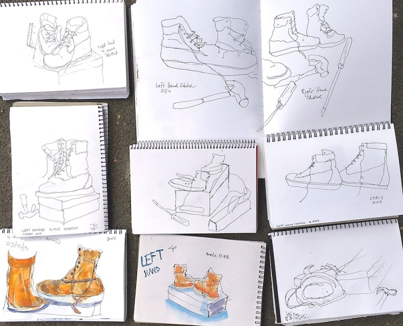 Tues Gen. Left & right handed sketches