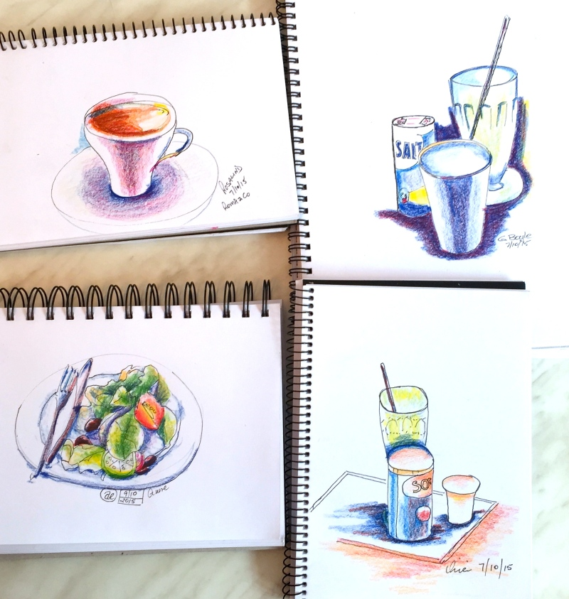 Wed Gen. Cafe sketches