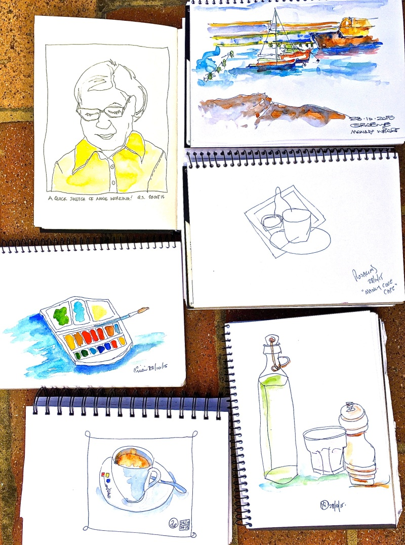 Wed Gen. Manly Cove cafe sketches