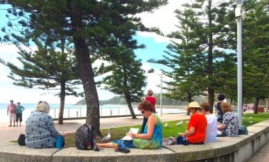 Fri Gen. On Manly Beach esplanade