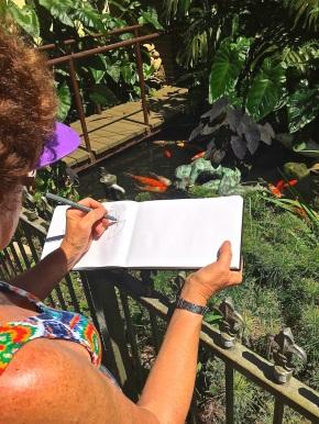 Fri Gen. Sketching the koi pond