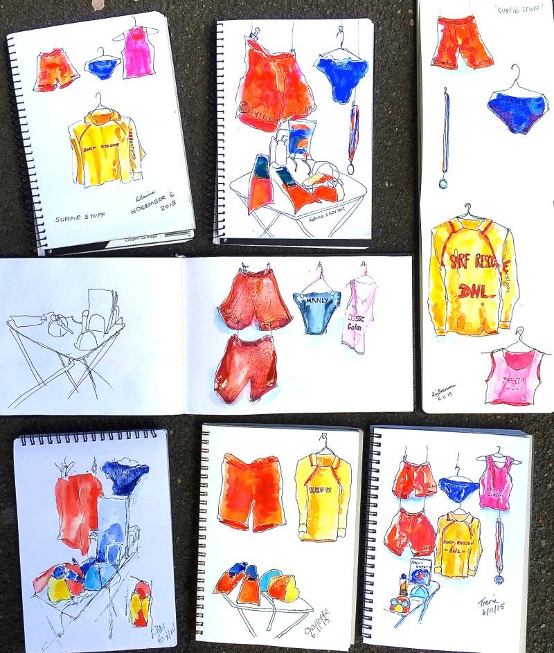Fri Gen. Surf Life Saving sketches