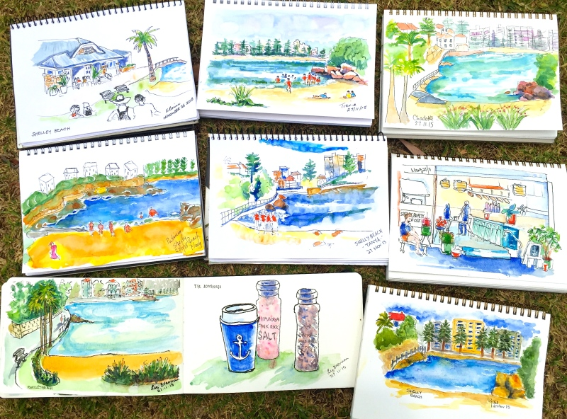 FriGen. Shelly Beach sketches
