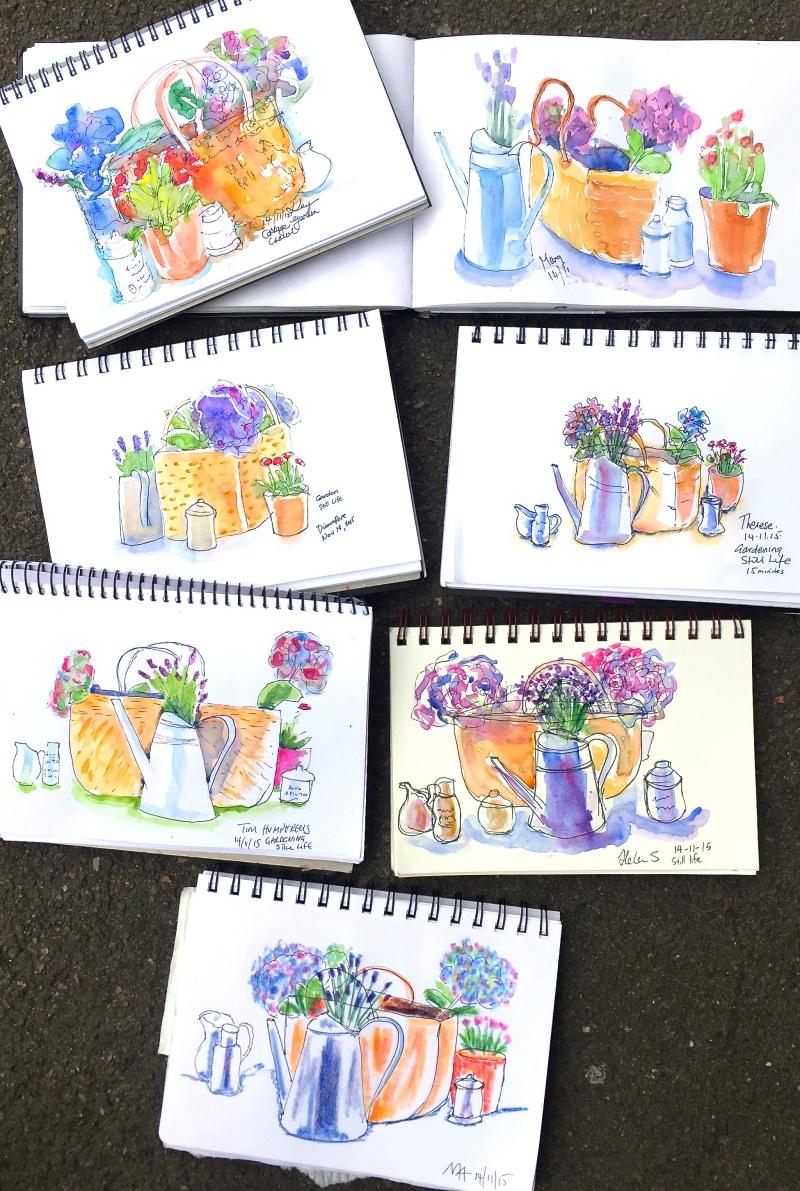 Sat Gen. Flower sketches 2