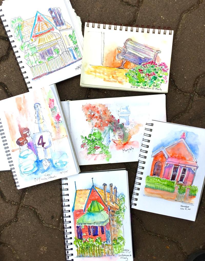 Sat Gen. House &Garden sketches