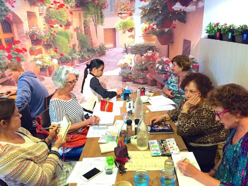 Sat Gen. Sketching at Ivy Cafe