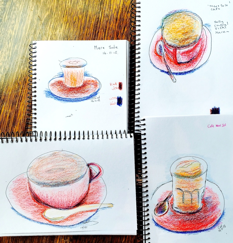 Sat New. Sketch your coffee