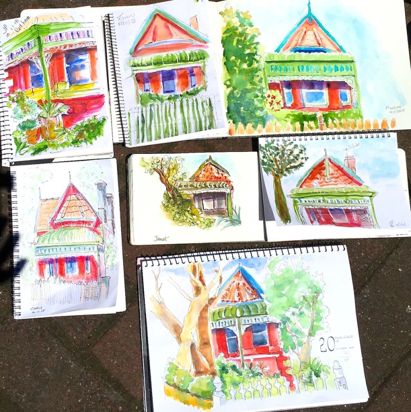 Tues Gen. Cottages & gardens sketches