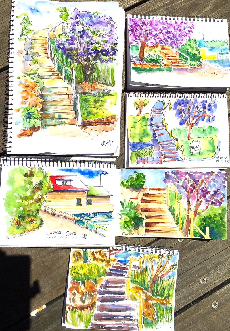 Tues Gen Steps and jacaranda