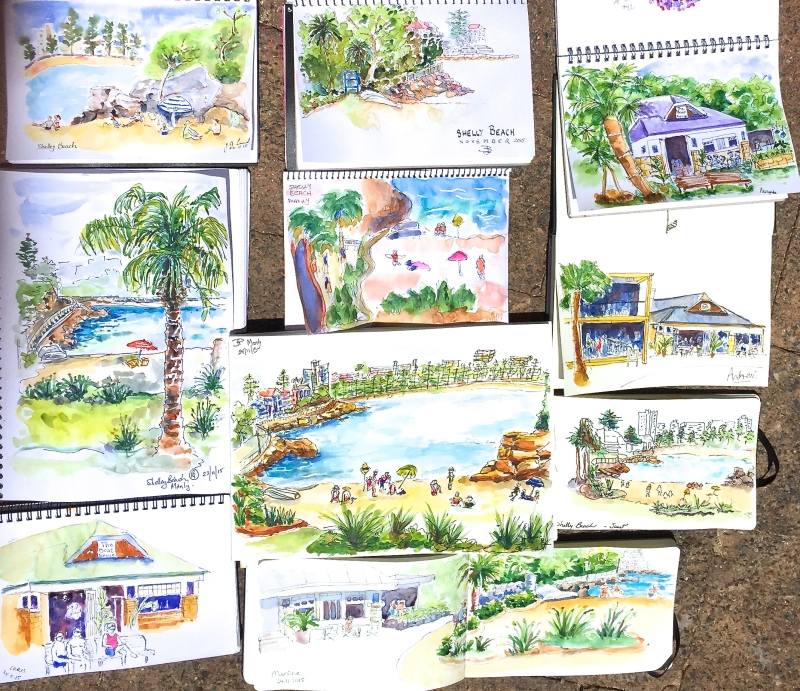 TuesGen. Shelly Beach sketches