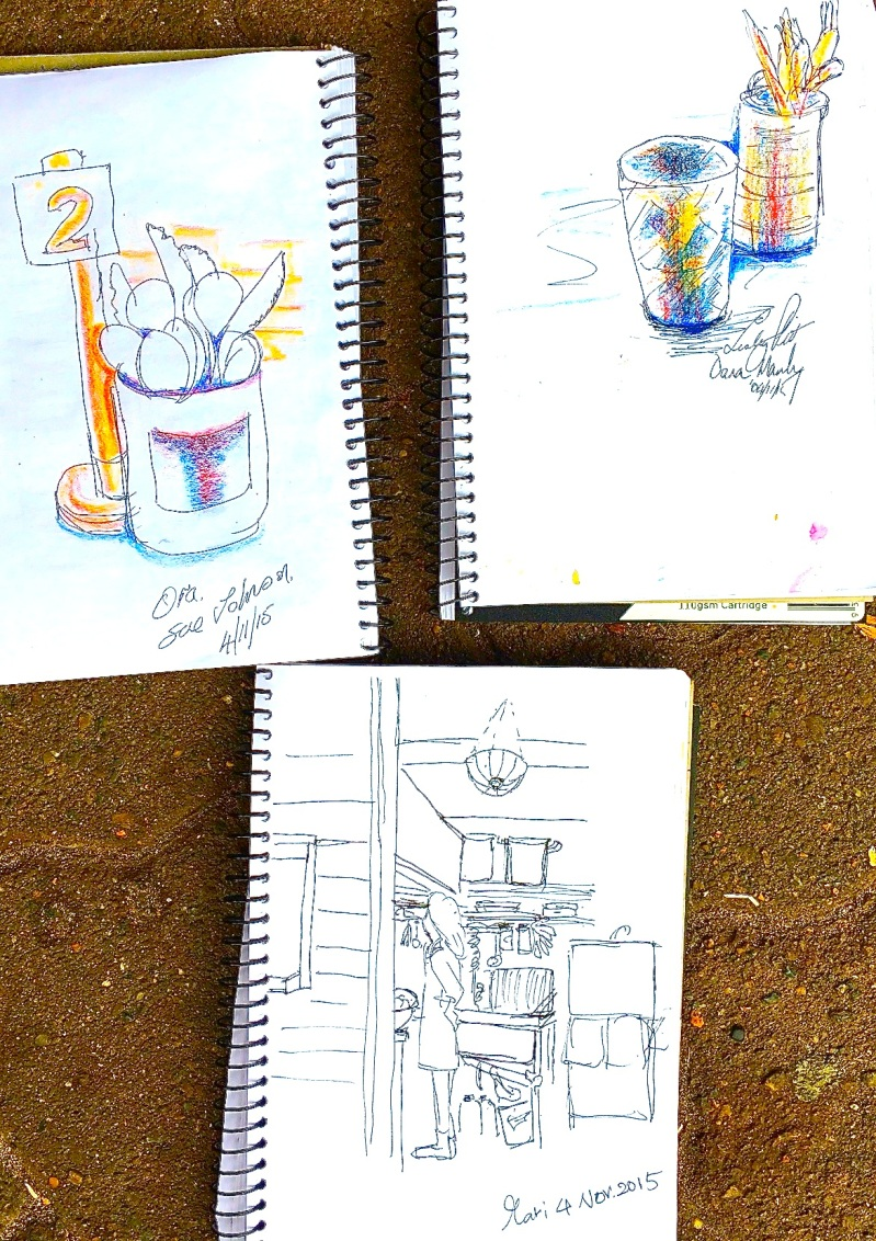 Wed New. Cafe Ora sketches