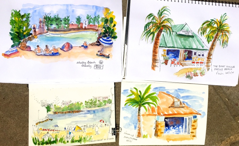WedGen. Beach sketches - Shelly Beach
