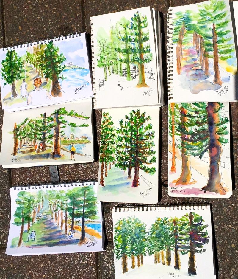 FriGen. Norfolk pine avenue
