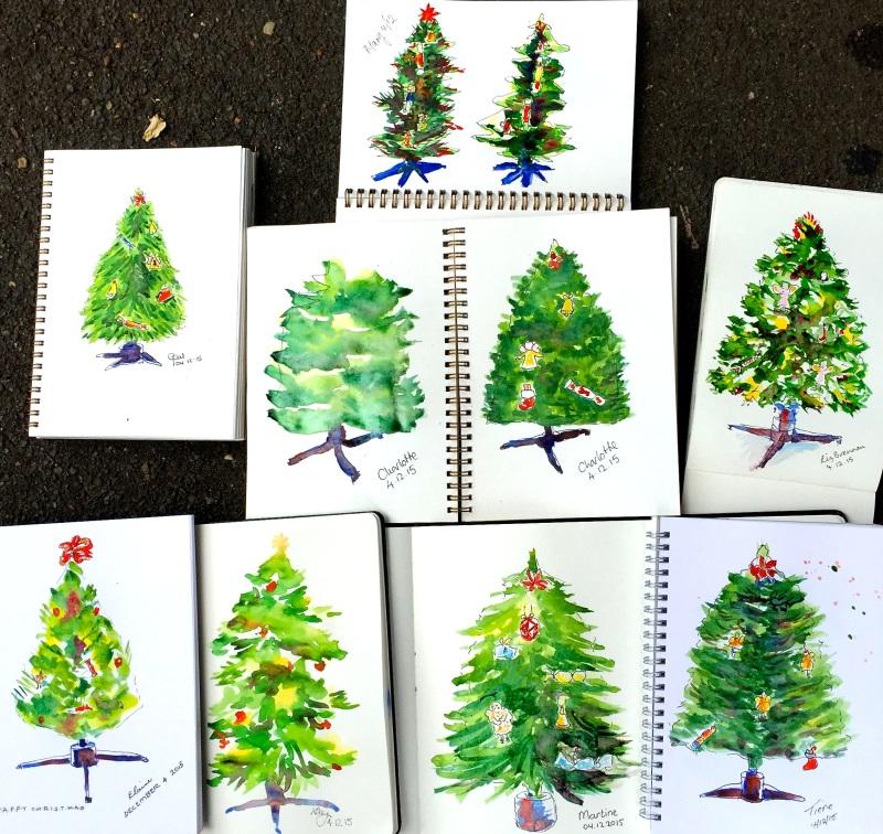 FriGen. Xmas tree sketches