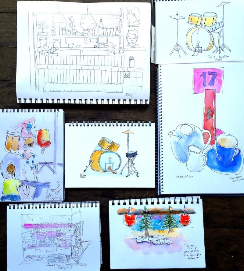 SatGen. Lunch sketches