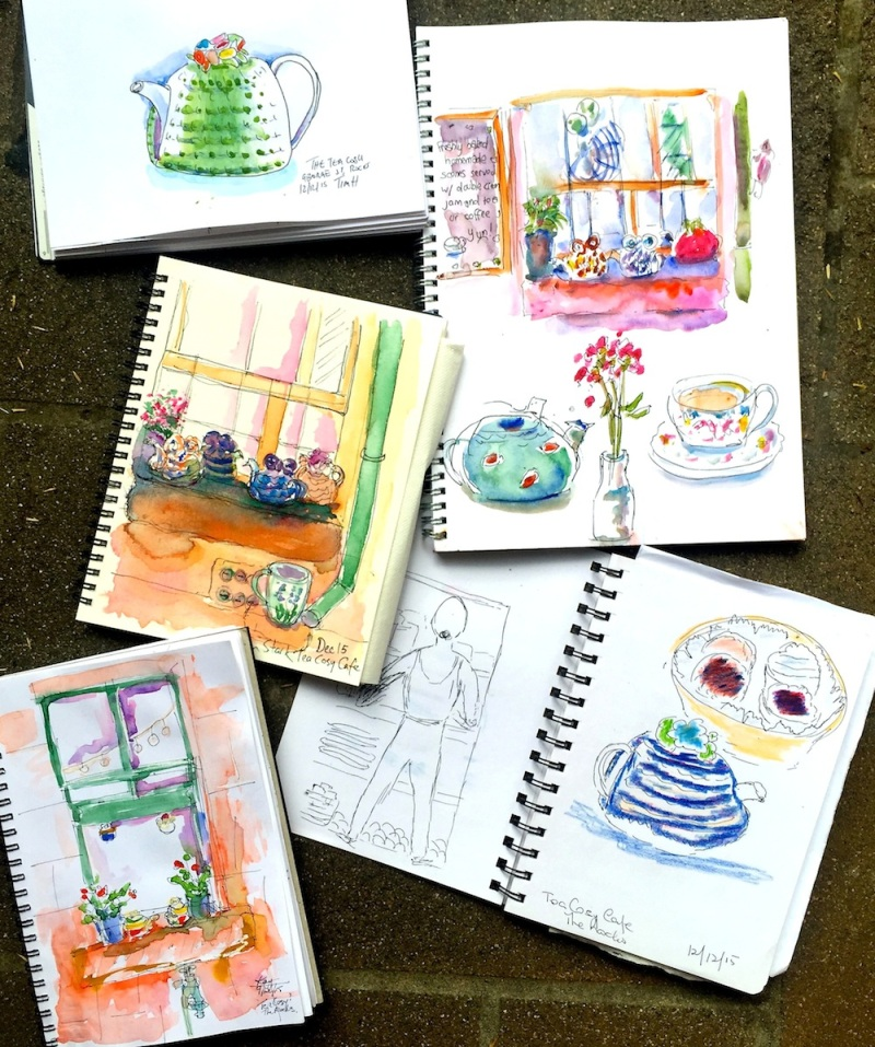 SatGen. The Tea cosy sketches