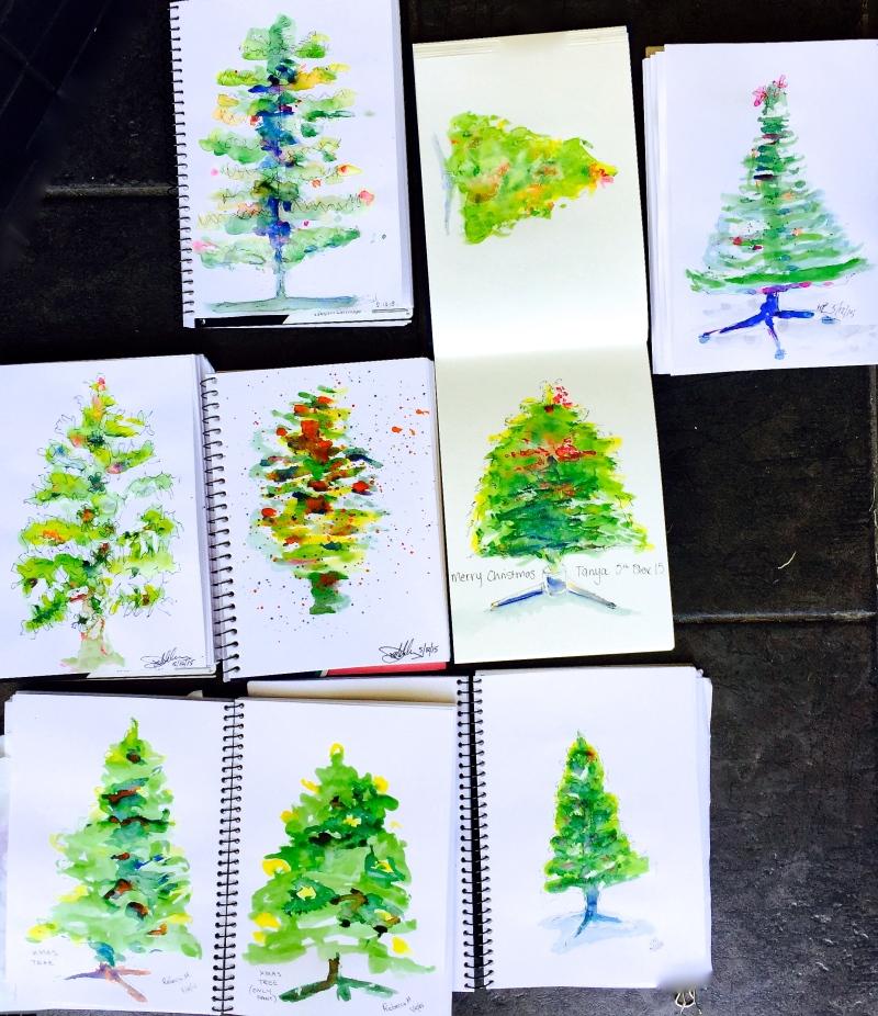 SatNew.Christmas trees