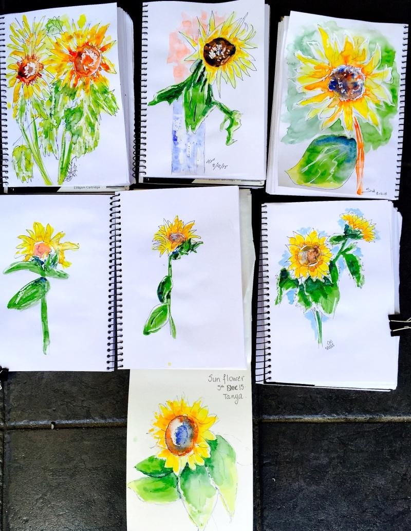 SatNew. Sunflowers