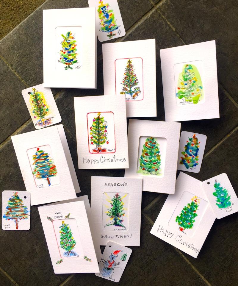 ThursGen. Christams tree cards