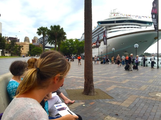 TuesGen. Cruise ship in Sydney