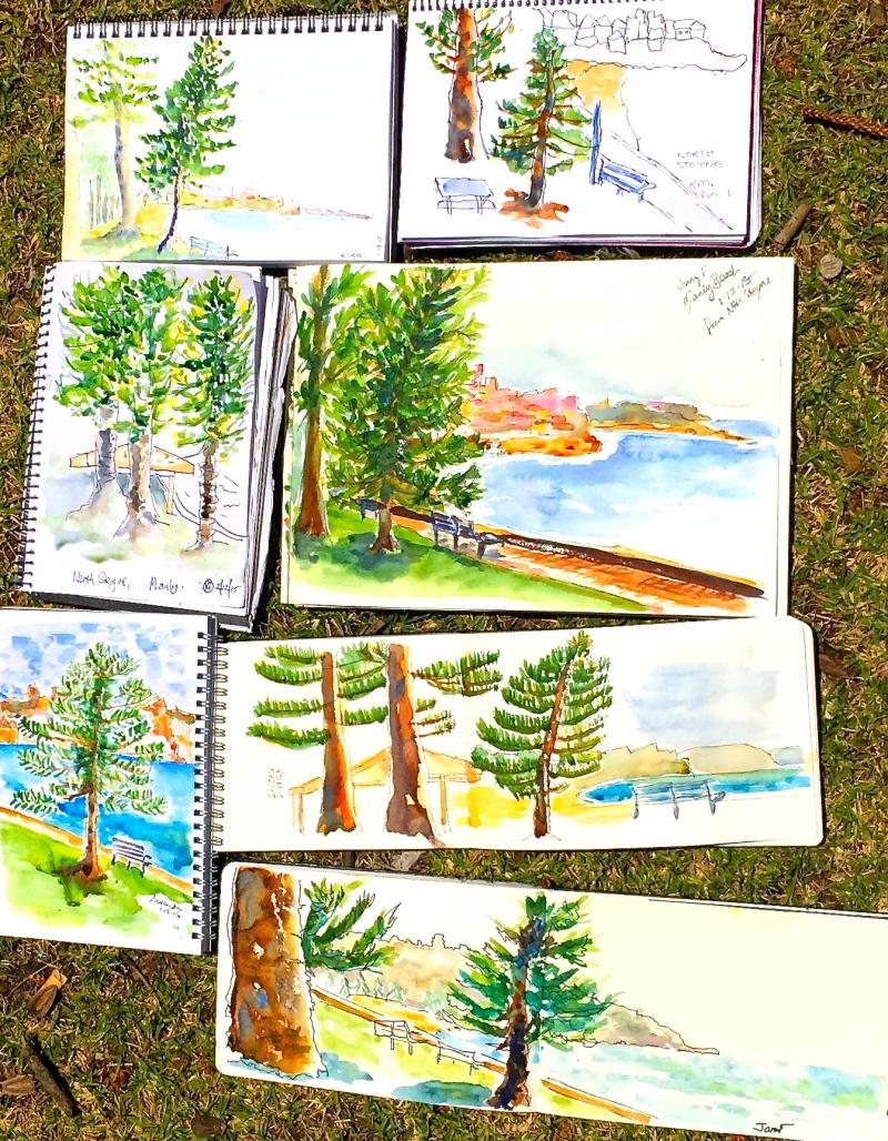 TuesGen. Norfolk pines