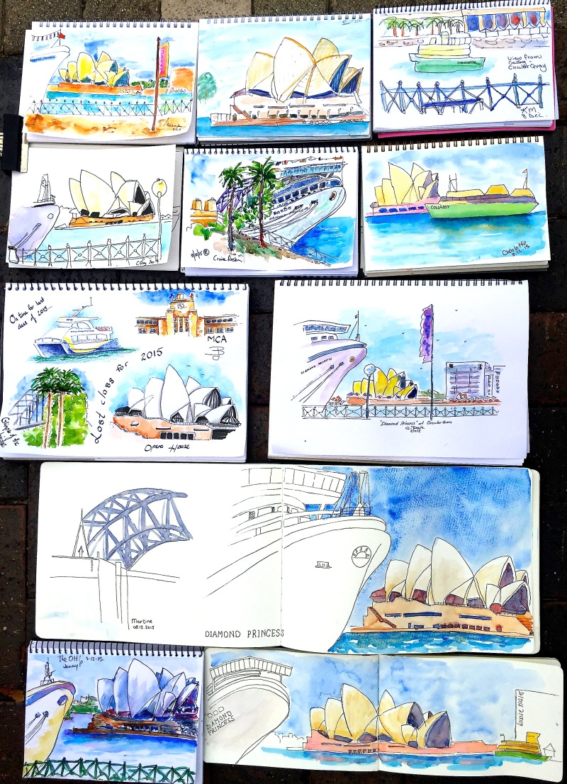 TuesGen. Sketches from Circular Quay