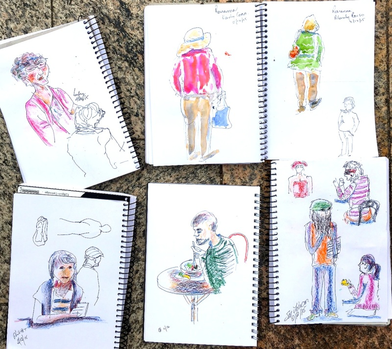 WedNew. Cafe people sketches