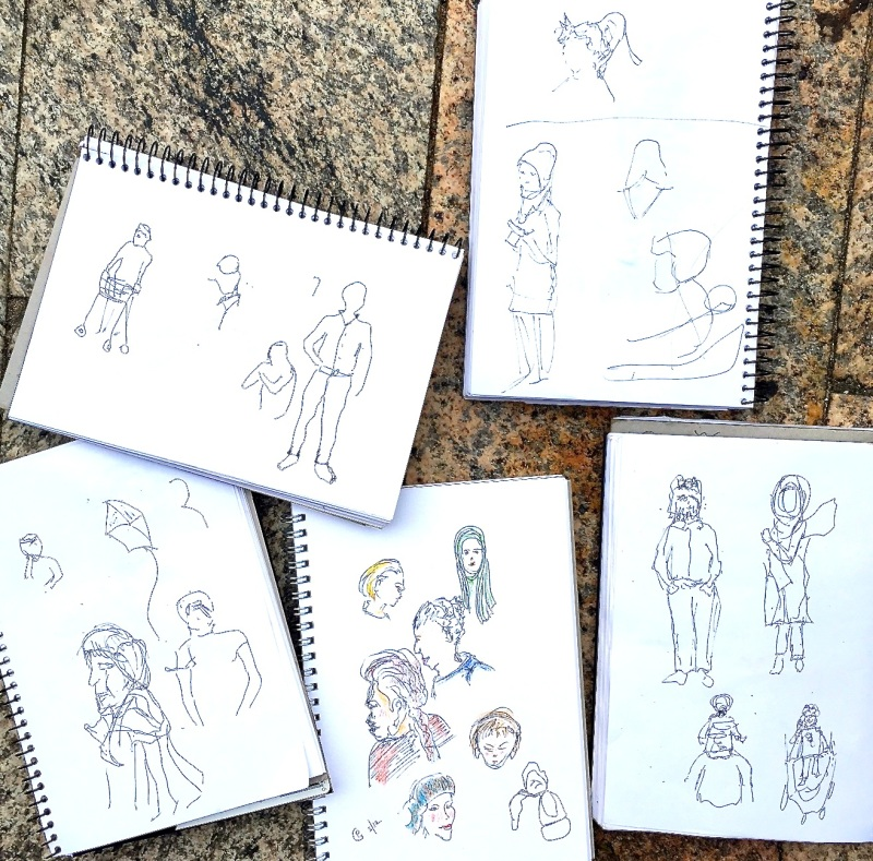 WedNew. Fast people sketches