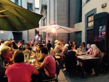 Dining in Barga