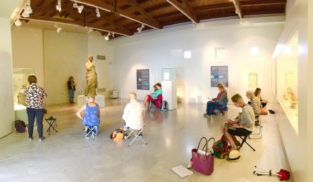 Sketch class Kalymos Archaelogical Museum