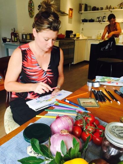 Annette prepares a lesson