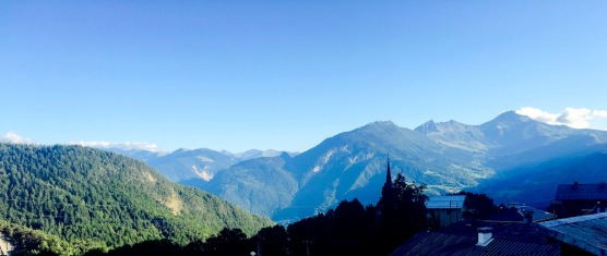 High up in the French Alps