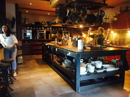 Where chef Niki prepares our dining experience