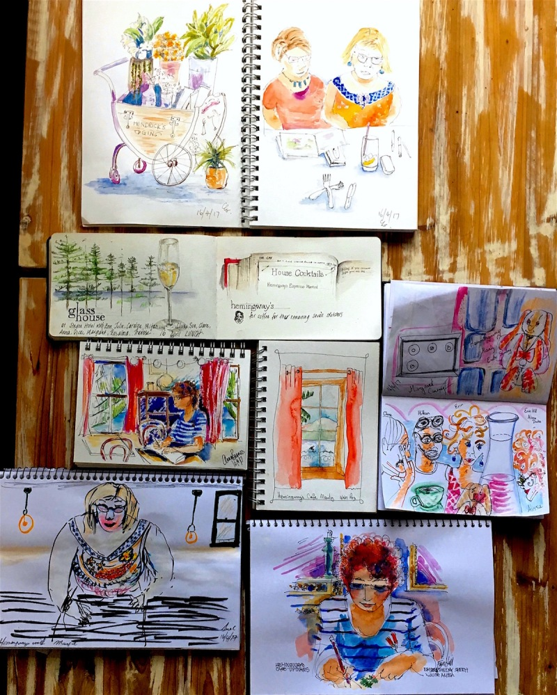 Sketching at Hemingways & Glasshouse