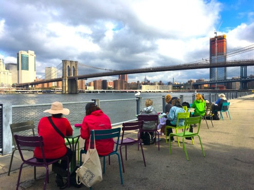 Sketching Brooklyn Bridge