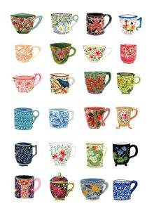 Teacups postcards